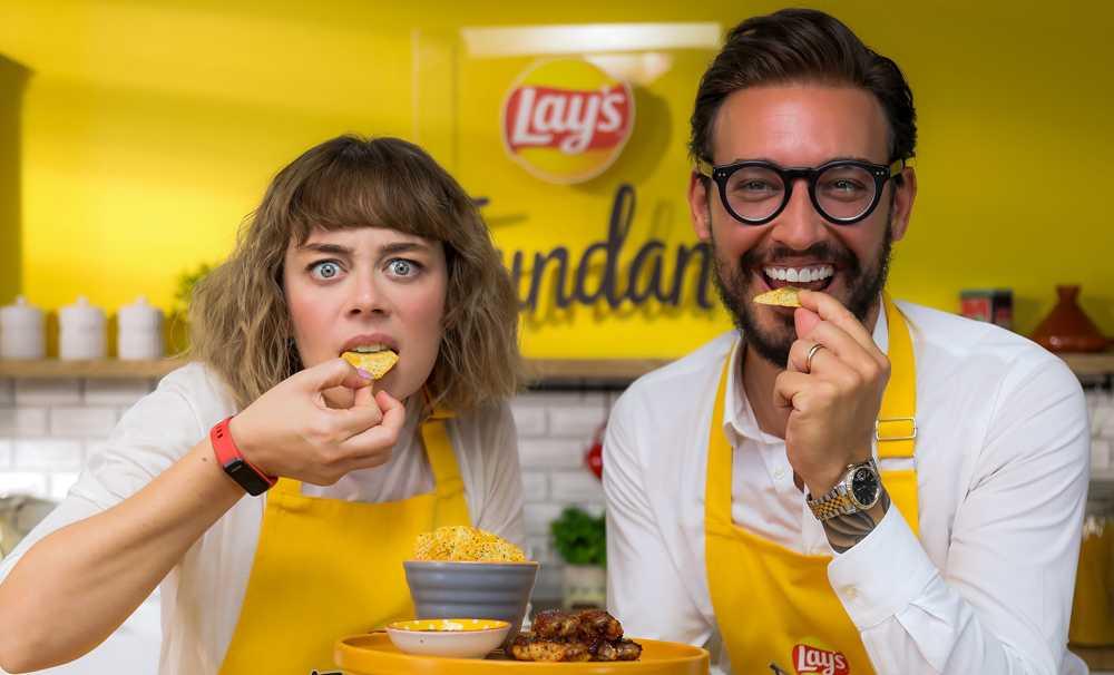 Demet Evgar ve Danilo Zanna Lay's Fırından için yemek yaptı